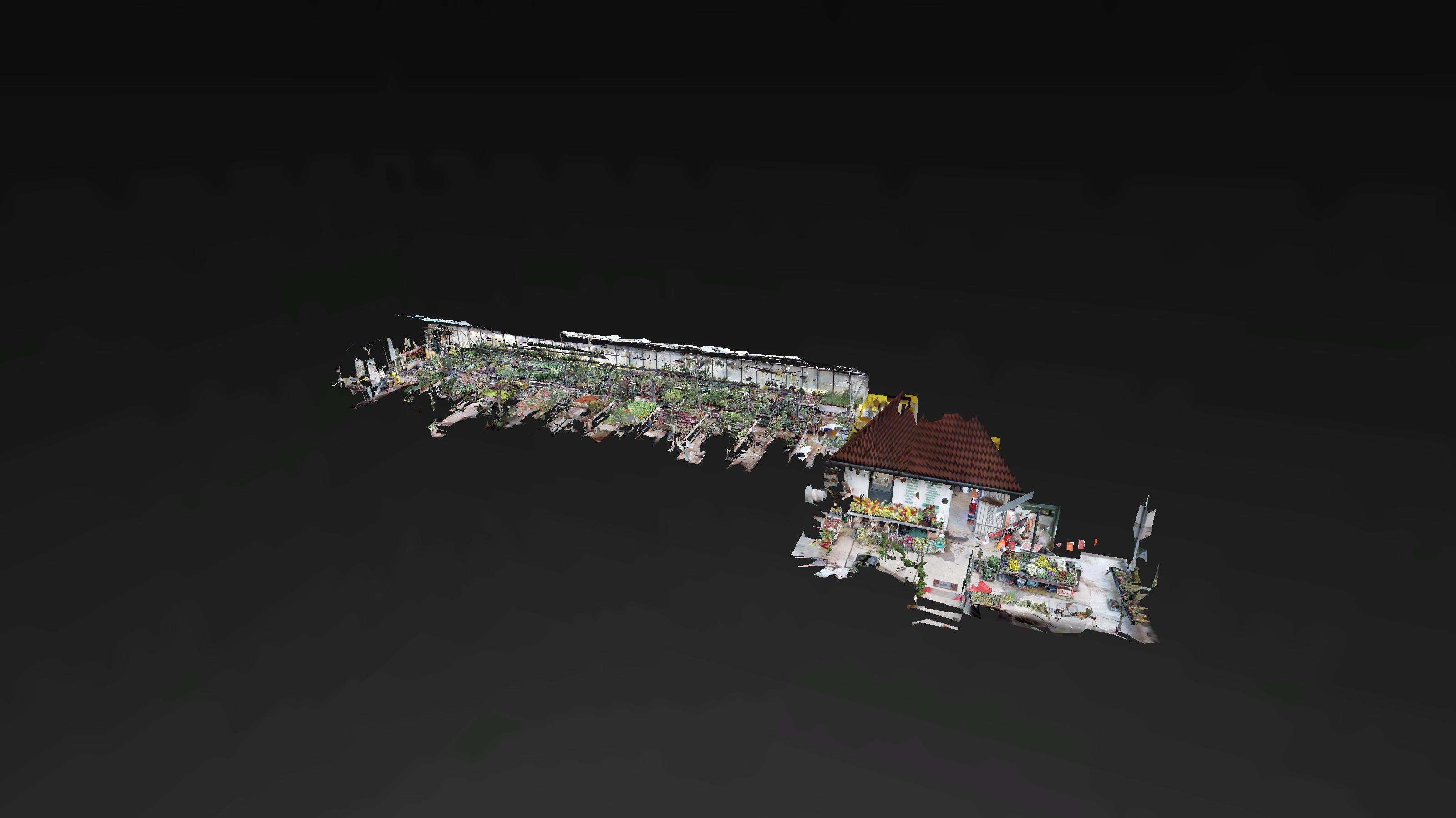 Jánoskert kertészet 3D Matterport babaház nézet 3D Matterport virtuális túra Brand360